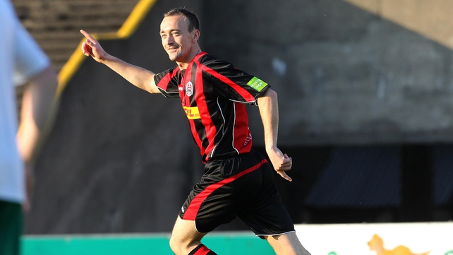 David Scully of Bohemians scored one of three hat-tricks in Friday night's FAI Ford Cup round two action