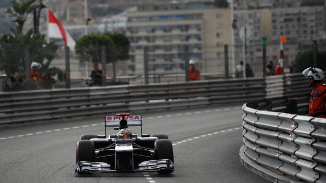 """Maldonado is crazy,"" Sergio Perez told his Sauber team after being cut off by the Venezuelan during final practice in Monaco"
