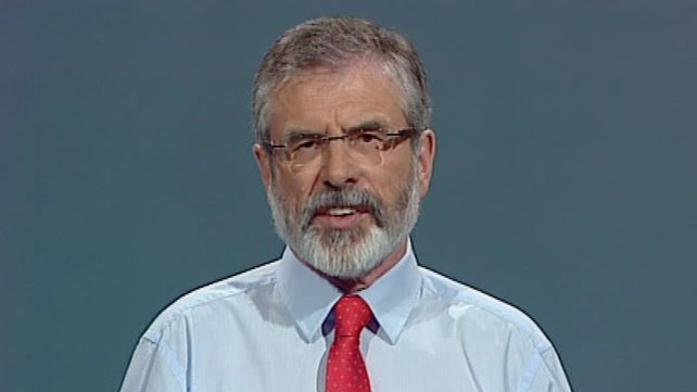 Gerry Adams criticised the Government in his leader's speech