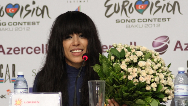 Sweden's entry Loreen pictured at her winner's press conference