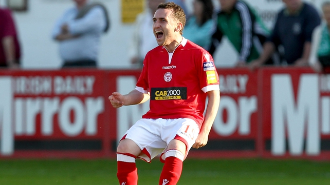 Barry Clancy had given Shelbourne the lead