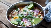 Ultimate Mexican baked eggs - I make these eggs in the morning whenever we've had any late-night guests who decided to stay over. They make a really funky and filling brunch.