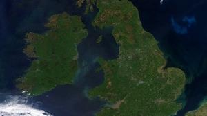 A cloud-free Ireland on Saturday (Photo: NEODAAS/University of Dundee)