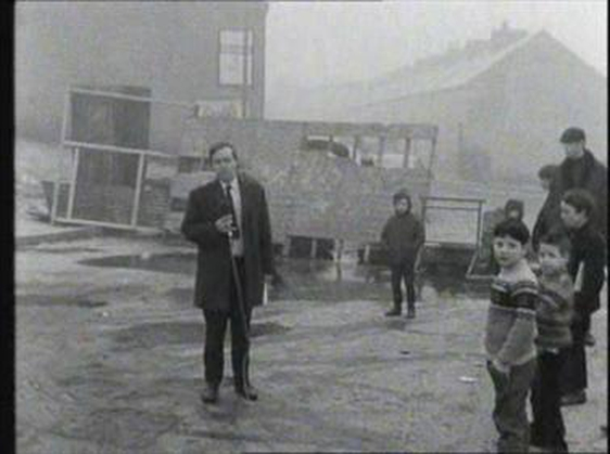 Donal Kelly reporting from St. Columb's Street, Derry on 5 January 1969.