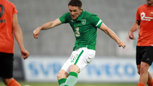 Keane slots home the opener for Trapattoni's side