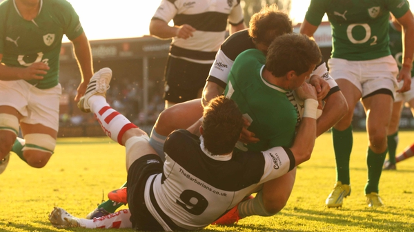 Craig Gilroy got over for an Irish try at  Kingsholm