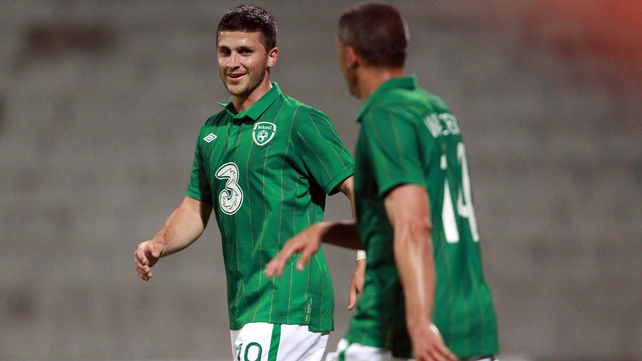 Shane Long was on target for Ireland again