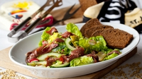 Duck Salad with Guinness Mustard Vinaigrette - A tasty salad that is perfect for a summer lunch
