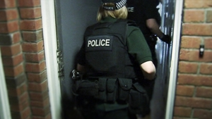 Searches were carried out at over 120 houses, apartments and flats on both sides of the border