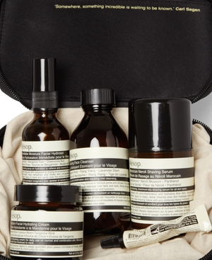 The special mens grooming kit from Aesop and MR PORTER