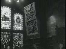 Demonstrators protesting about housing conditions at Guildhall, Derry. 27 August, 1968.