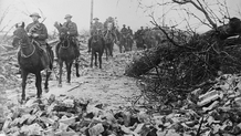British cavalry pass through a destroyed village Courtesy Library of Congress LC_B2_3212_7