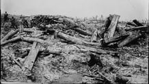 German trenches after shelling Courtesy Library of Congress LC_B2_3212_7
