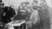 Soldiers buying goods from local people at Etaples Courtesy Library of Congress LC_B2_3385_4