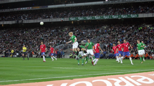 Action from the Republic of Ireland v Serbia friendly at Croke Park in 2008