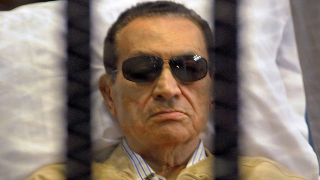 Hosni Mubarak has appeared again in a court in Cairo on charges of complicity with murder