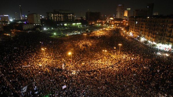 Protesters gather in Cairo's Tahrir Square