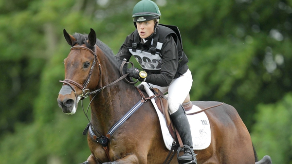 Ireland's Camilla Speirs competing in the cross country section of the Tattersalls International Horse Trials