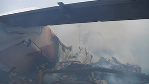 Emergency personnel in Lagos say it is unlikely that anyone survived the crash