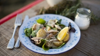 Smoked mackerel salad - Simple, tasty and fresh, use only the freshest possible.