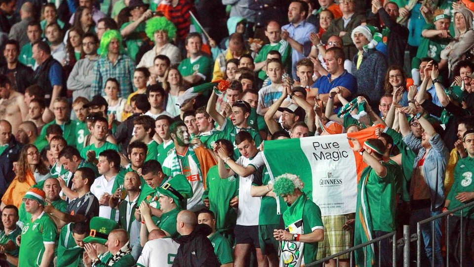 The Irish fans were in great spirits as they enjoyed Budapest on the way to Poland