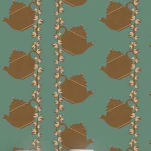 Floral Teapot Wallpaper; €198 from ATADesigns