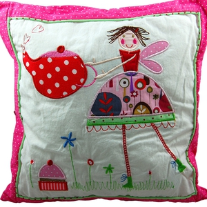 Gisela Graham Teaparty Embroidered Cushion; €13.50 from Gifts From Handpicked