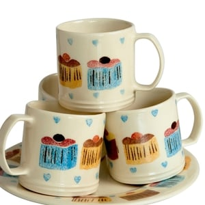 Aston Pottery Cup Cakes Collection Mugs; €16 per mug from Aston Pottery