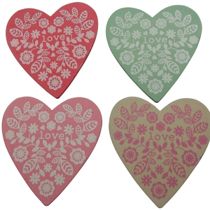 Gisela Graham Fret Love Heart Coasters; €6 from Gifts From Handpicked
