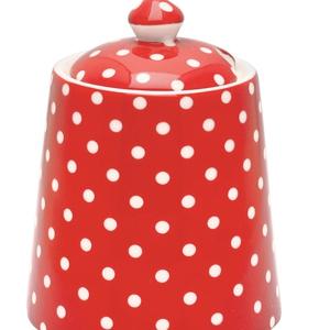 Stoneware Sugar Bowl Polka Red; €18 from Drift Living