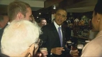 President Obama enjoys a pint in Moneygall.