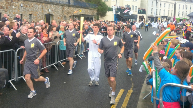 The Olympic torch arrived in Howth this morning