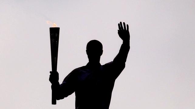 The Kilkenny man walked the torch around the Croke Park Skyline Walkway