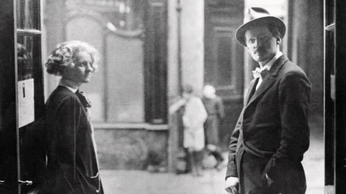 James Joyce and Sylvia Beach pictured in her book shop, Shakespeare & Co, in Paris in the 1920s.
