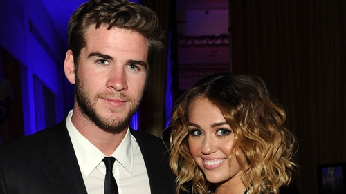 Liams Hemsworth and Miley Cyrus
