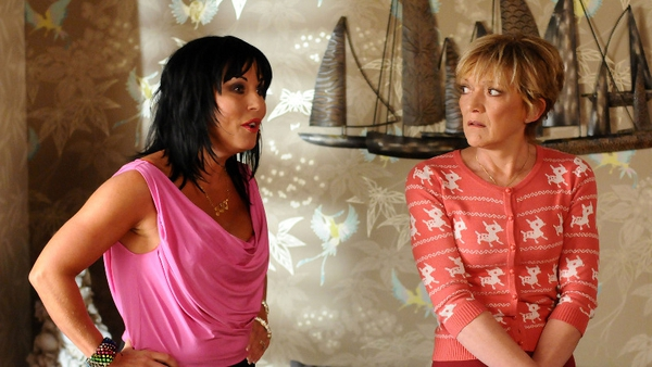 Jessie Wallace as Kat and Gillian Wright as Jean in EastEnders
