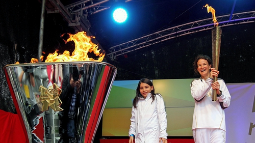 The past and the future of Irish athletics - but what about the present? Sonia O'Sullivan and daughter Sophie back at the London 2012 Torch Relay in Dublin
