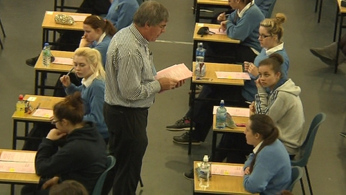 Students sat Maths and Irish today
