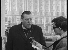 Ian Paisley being interviewed for RTÉ News on 31 January 1969.