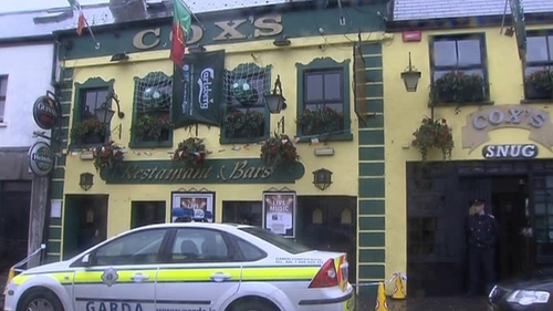 Gardaí were called to an incident at Cox's bar