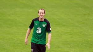 Aiden McGeady was all smiles during the session