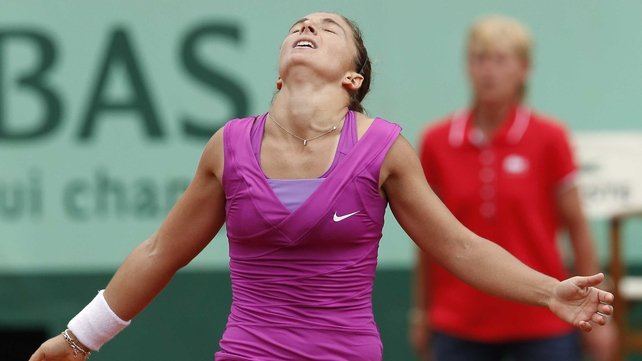 Sara Errani is through to her first grand slam final