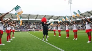Republic of Ireland kit man Dick Redmond realised a lifelong dream when he led a group of local cheerleaders through their paces at the Municipal Stadium in Gdynia
