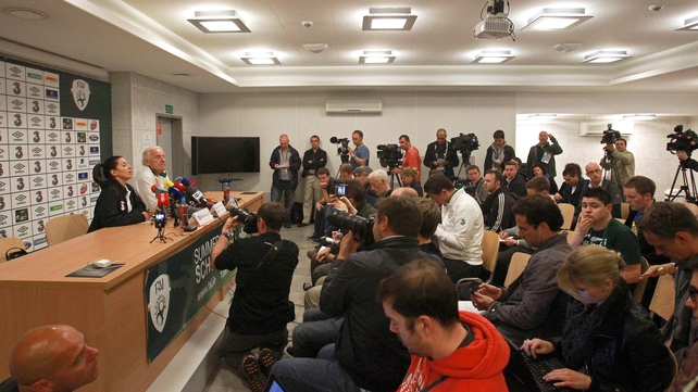 Trapattoni fielded questions from international media as well as Irish journalists as focus on the veteran Italian increased