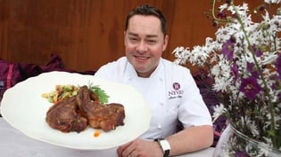 Neven with one of his signature lamb dishes