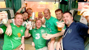 Ireland fans enjoy an eye opener