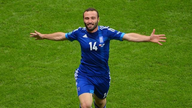 Dimitris Salpingidis' goal gave Greece a point