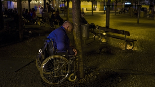 The Czech Republic's defeat by Russia was too tough to watch for one fan in the Old Town Square in Prague
