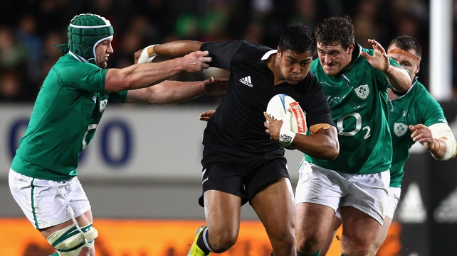 Julian Savea touched down three times on his debut for the All Blacks