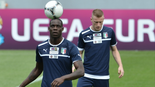 Mario Balotelli was abused during training with Italy
